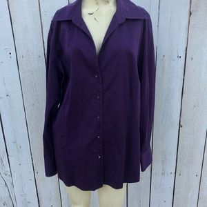 Charter club woman size 18 w plum purple